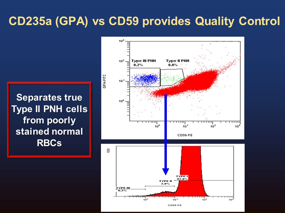 CD235a (GPA) vs CD59 provides Quality Control