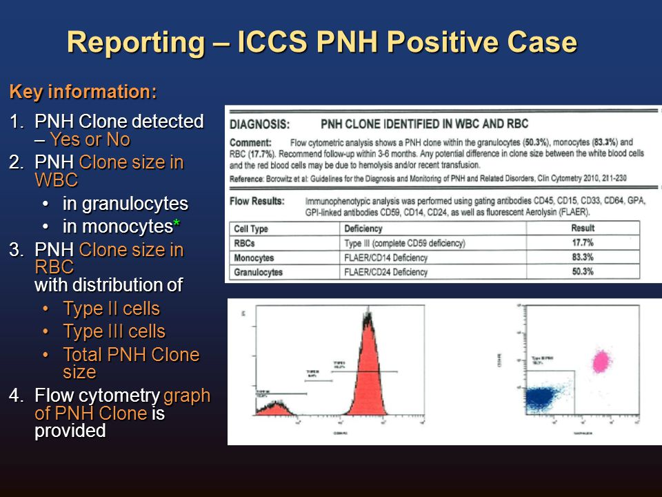 Reporting – ICCS PNH Positive Case