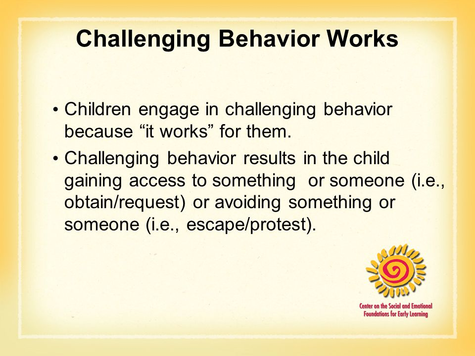Challenging Behavior Works