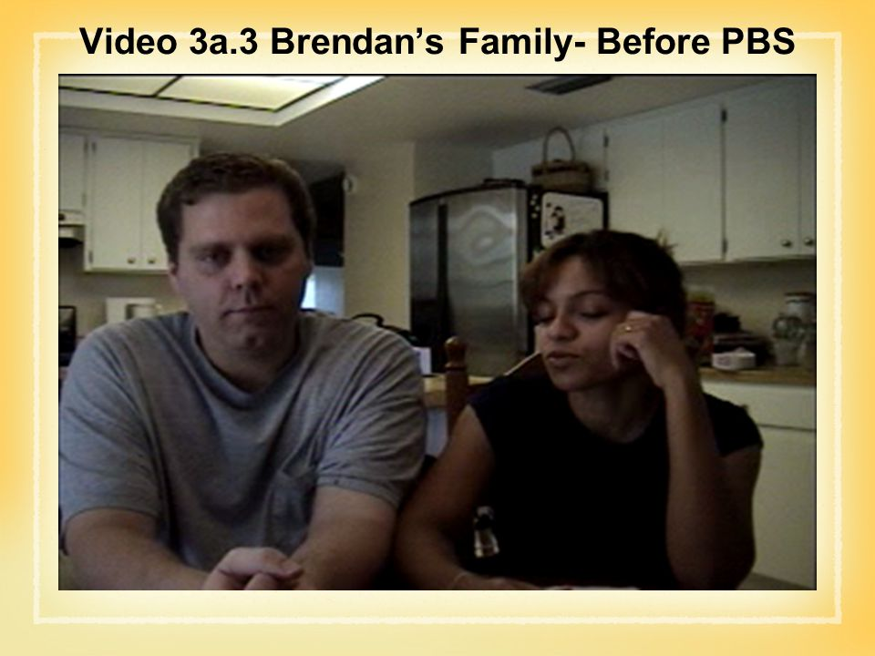 Video 3a.3 Brendan's Family- Before PBS