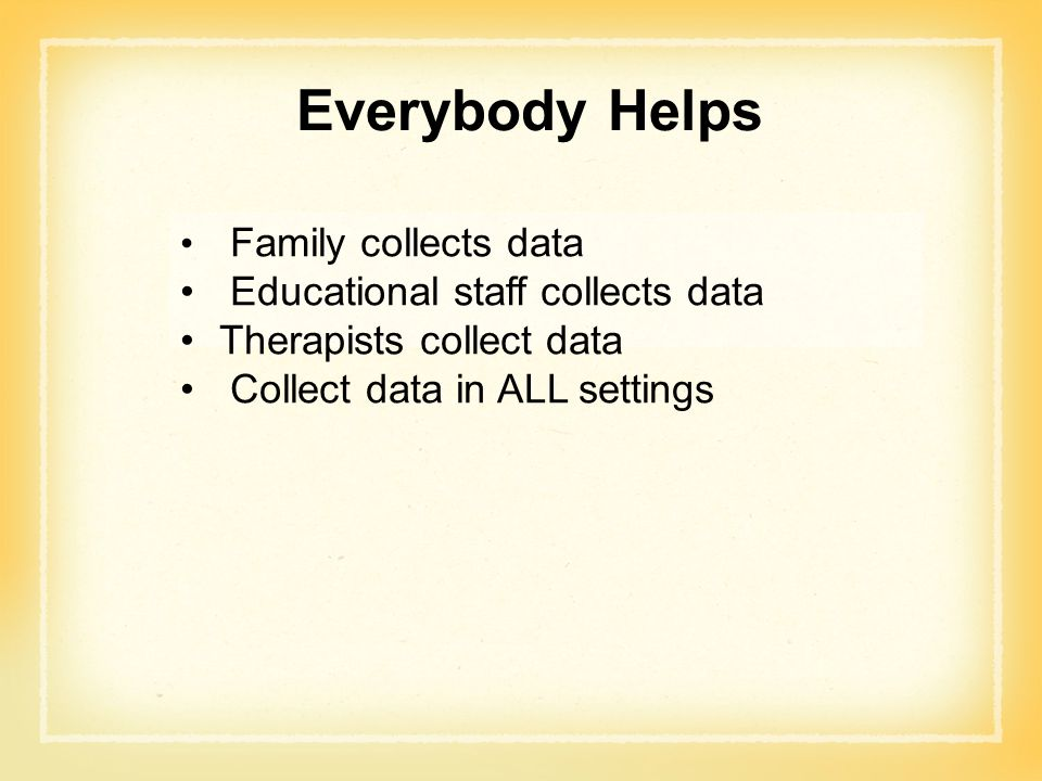 Everybody Helps Educational staff collects data