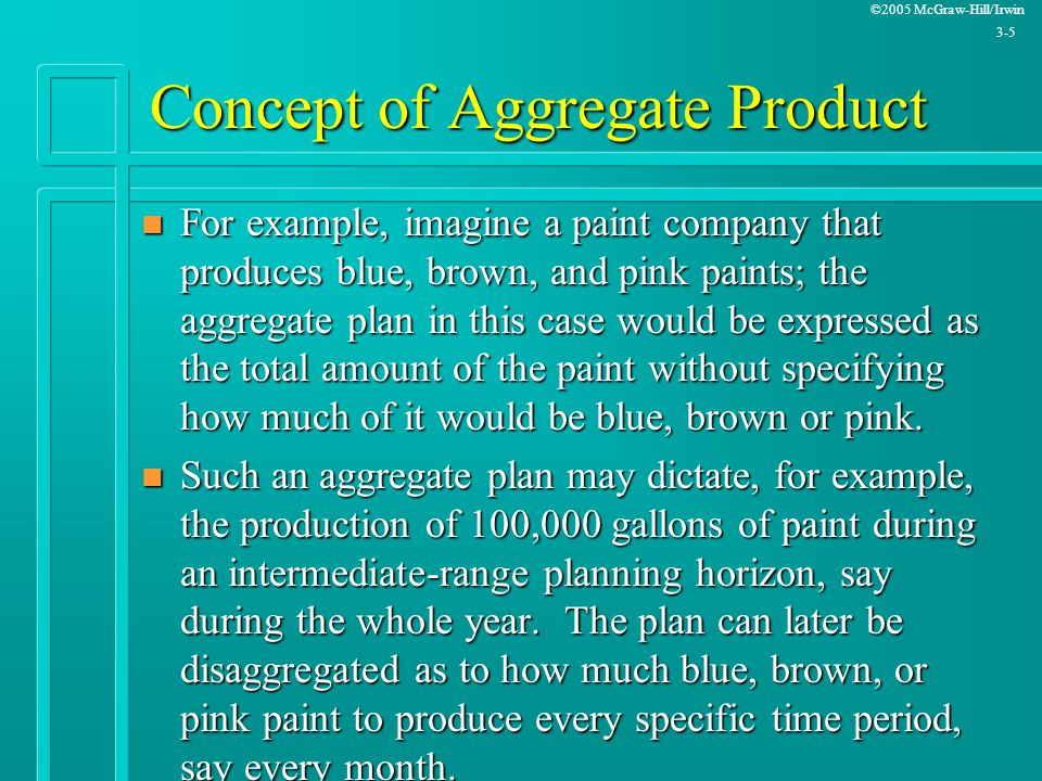 Concept of Aggregate Product