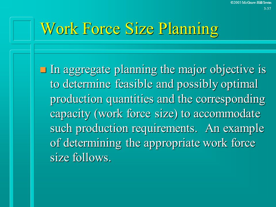 Work Force Size Planning