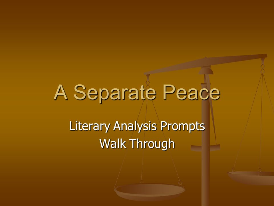 Literary Analysis Prompts Walk Through