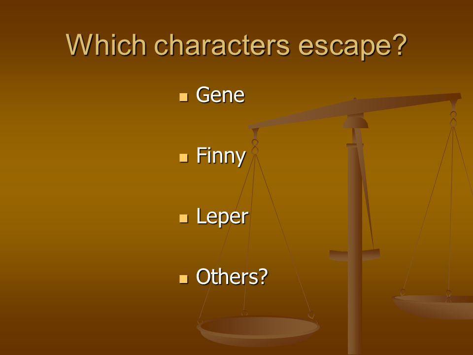 Which characters escape