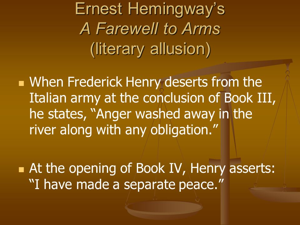 "an analysis of themes in a farewell to arms by ernest hemingway 167 quotes from a farewell to arms:  ― ernest hemingway, a farewell to arms 142 likes like ""cowards die a thousand deaths, but the brave only die once."