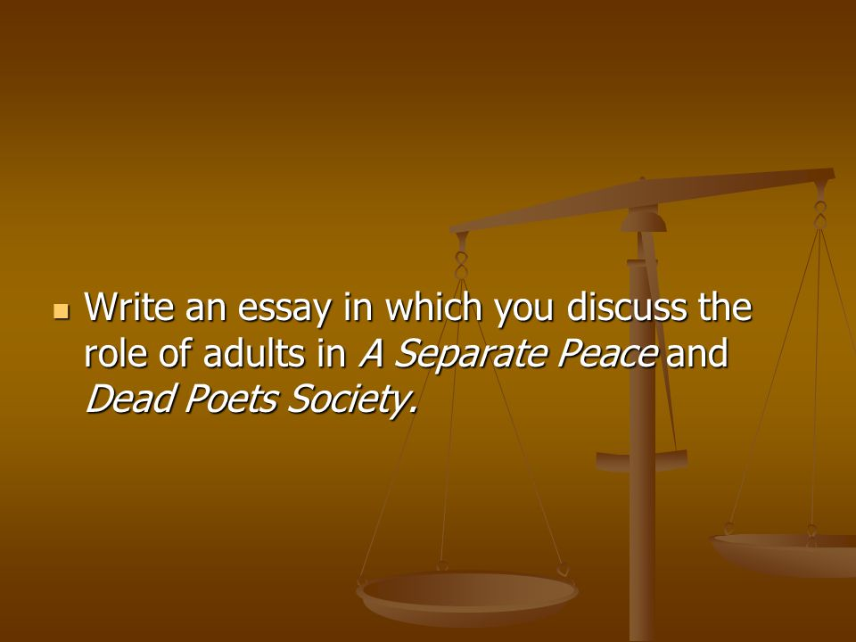 literary analysis prompts walk through ppt video online  21 write an essay in which you discuss the role of adults in a separate peace and dead poets society