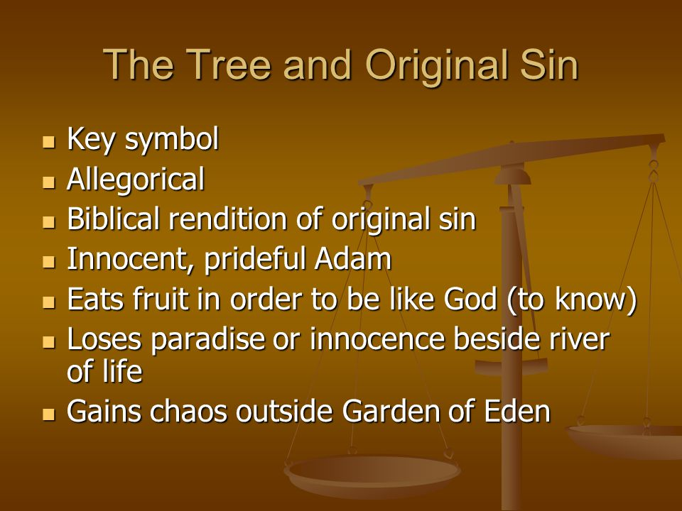 The Tree and Original Sin