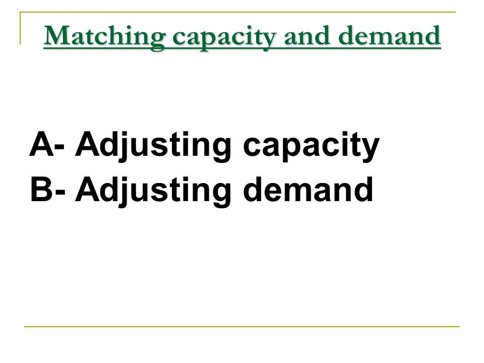 Matching capacity and demand