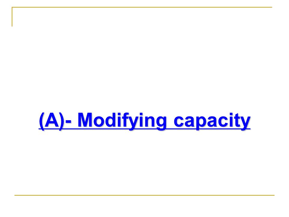 (A)- Modifying capacity