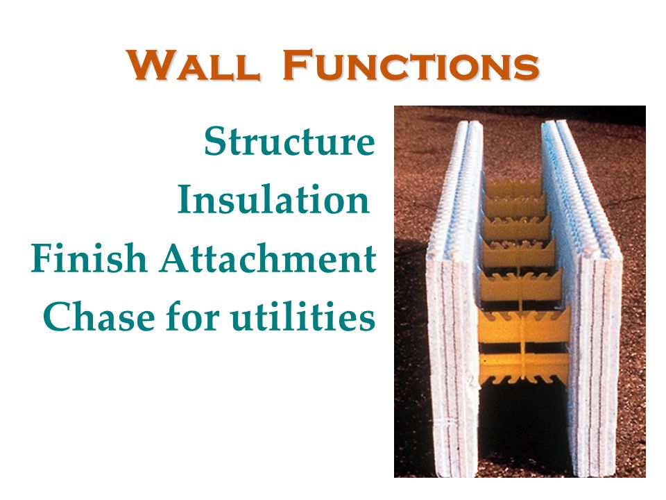 Wall Functions Structure Insulation Finish Attachment