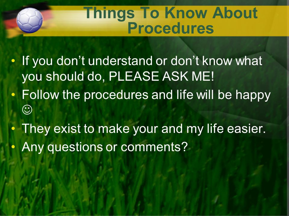 Things To Know About Procedures