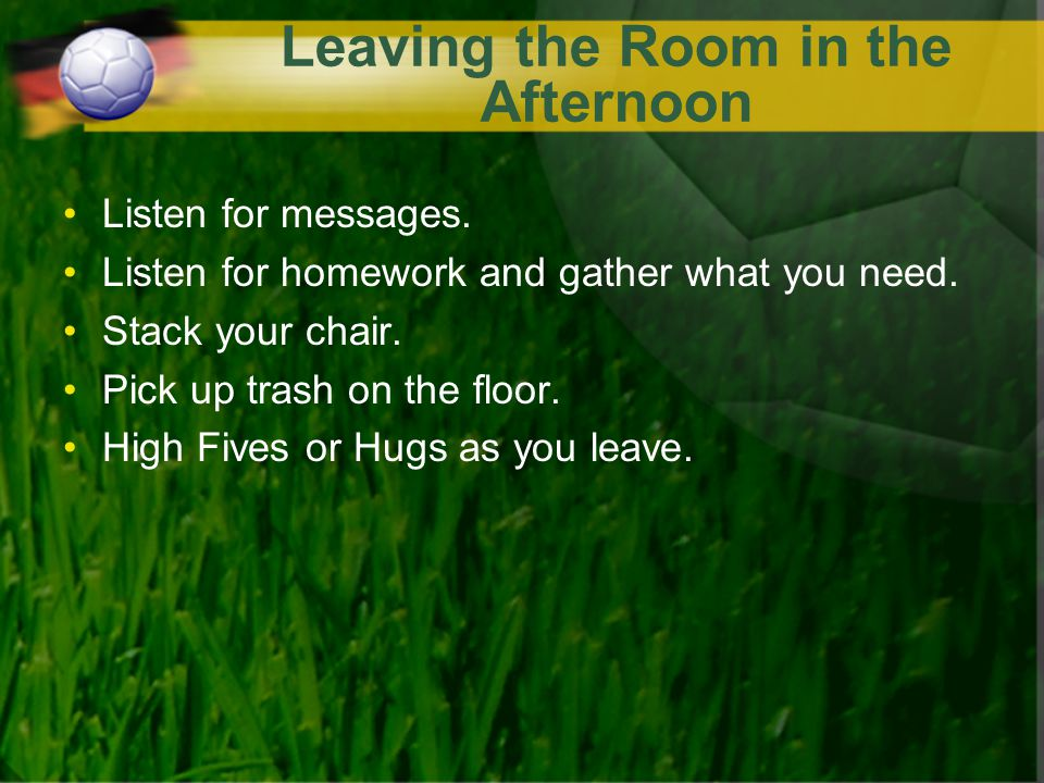 Leaving the Room in the Afternoon