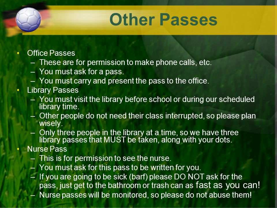 Other Passes Office Passes
