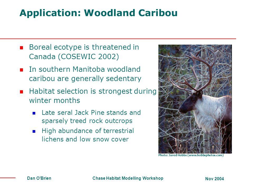 Application: Woodland Caribou