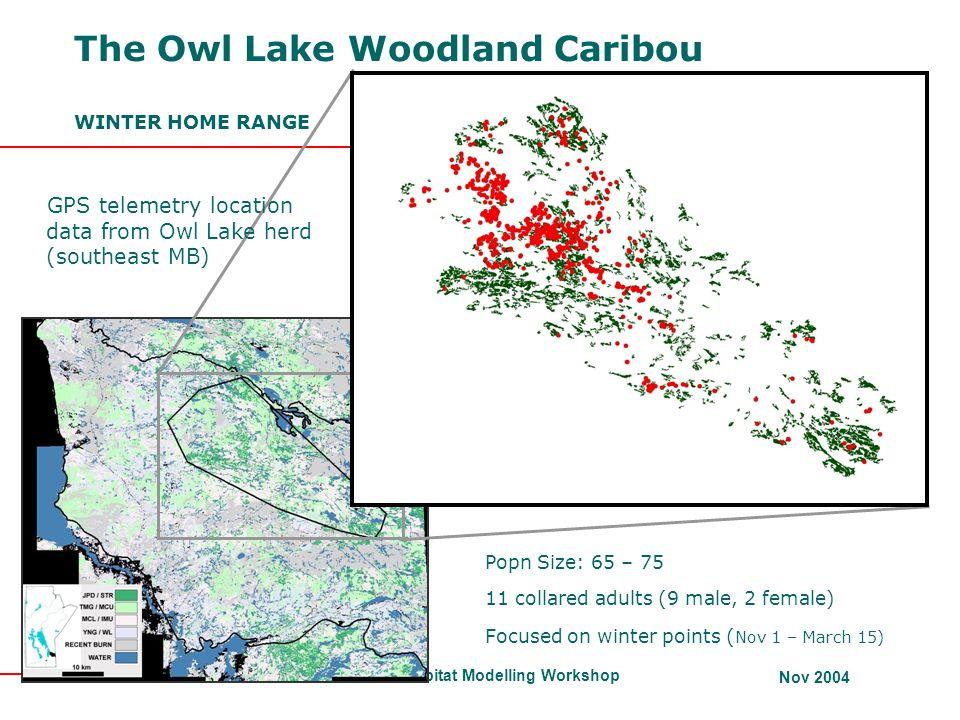 The Owl Lake Woodland Caribou WINTER HOME RANGE