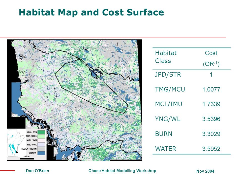 Habitat Map and Cost Surface