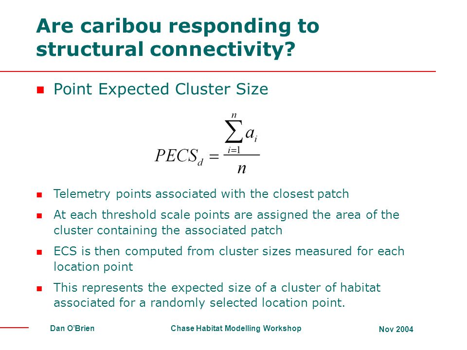 Are caribou responding to structural connectivity