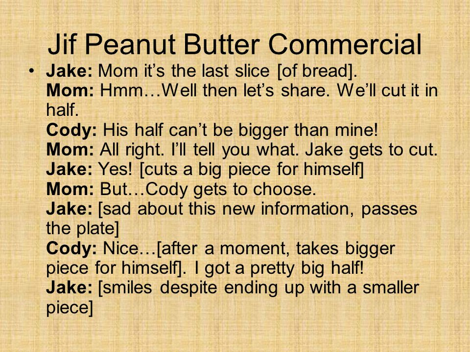 Jif Peanut Butter Commercial