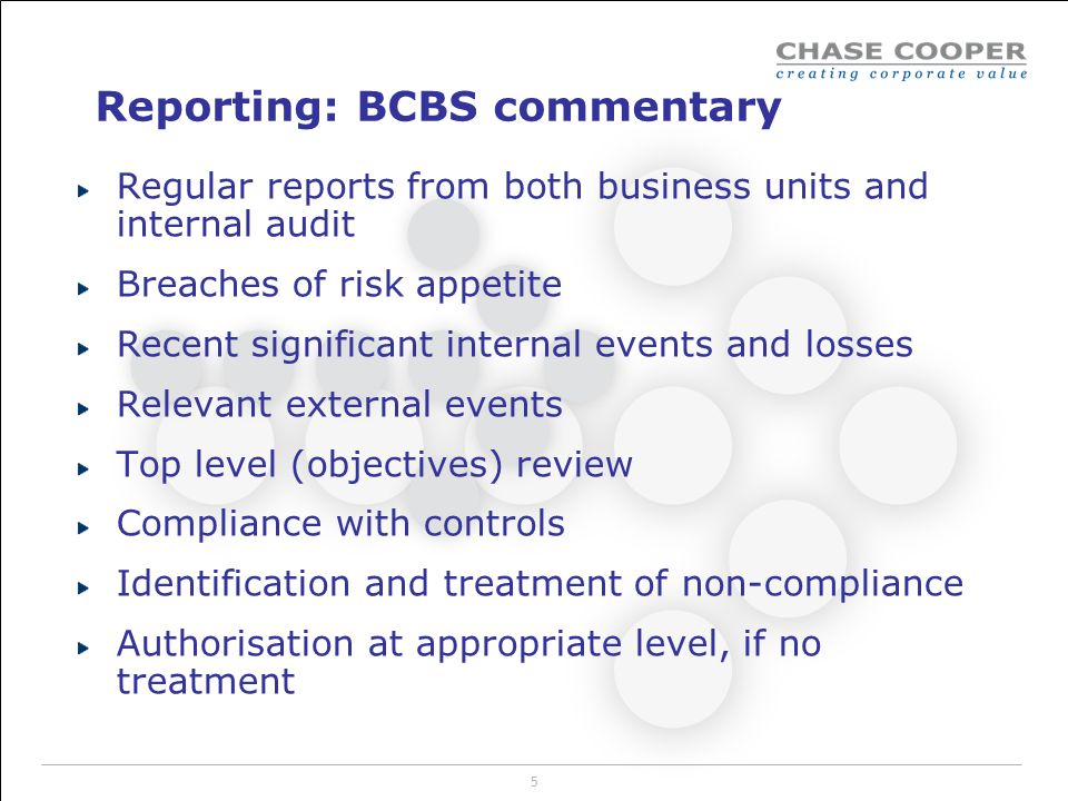 Reporting: BCBS commentary