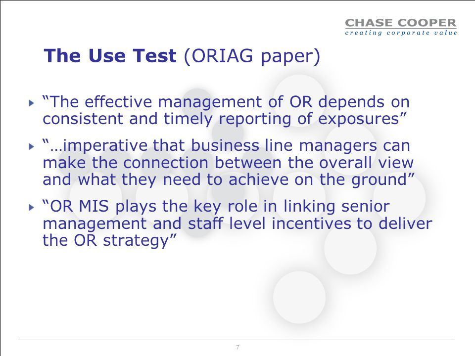 The Use Test (ORIAG paper)