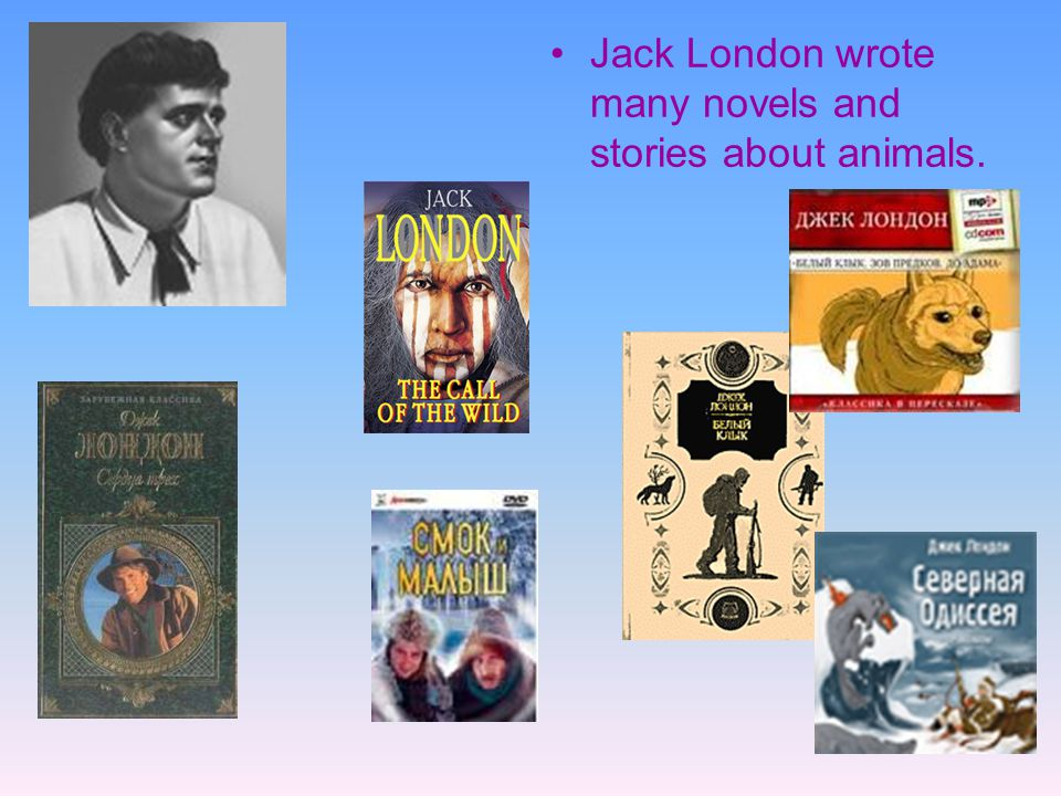 Jack London wrote many novels and stories about animals.