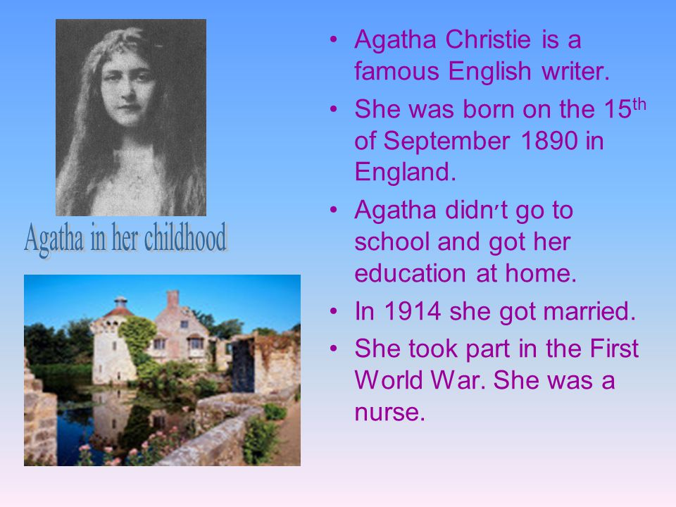 Agatha in her childhood
