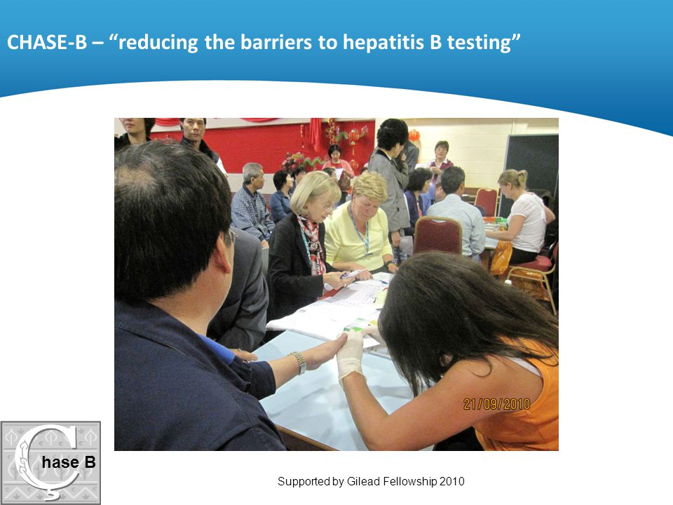 CHASE-B – reducing the barriers to hepatitis B testing