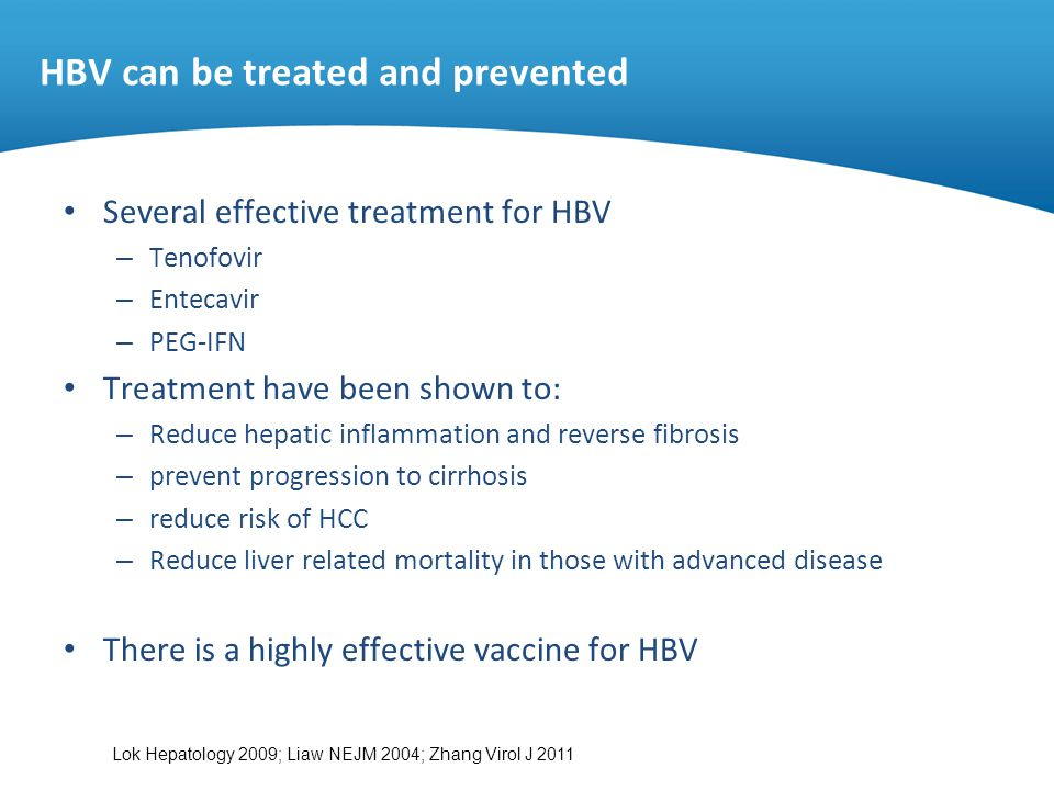 HBV can be treated and prevented