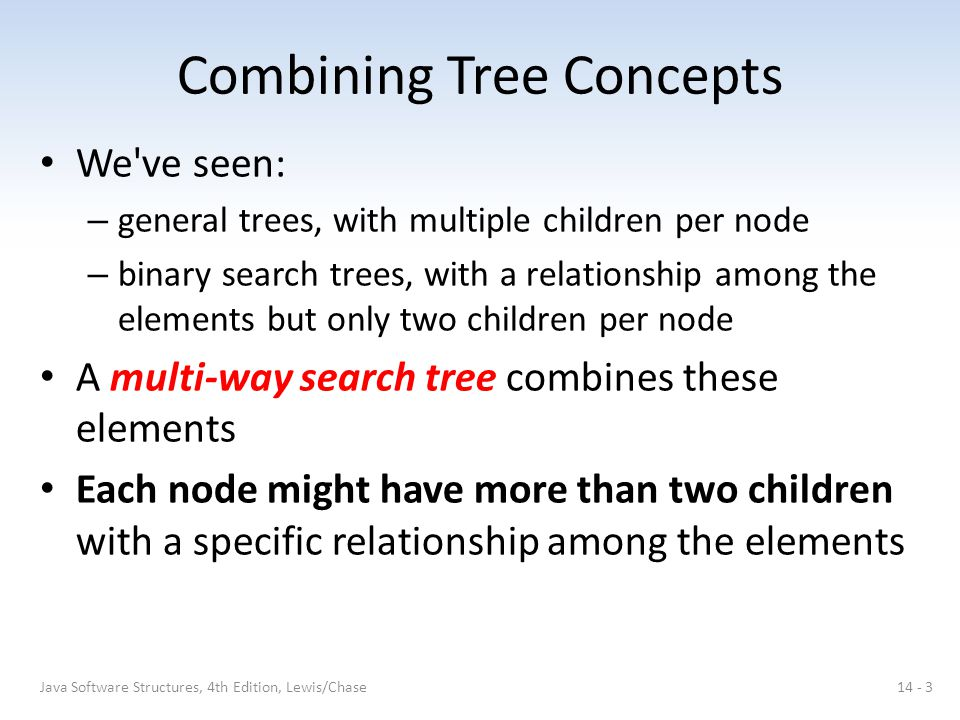 Combining Tree Concepts