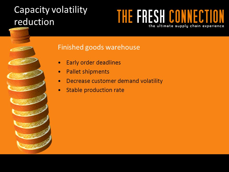 Capacity volatility reduction