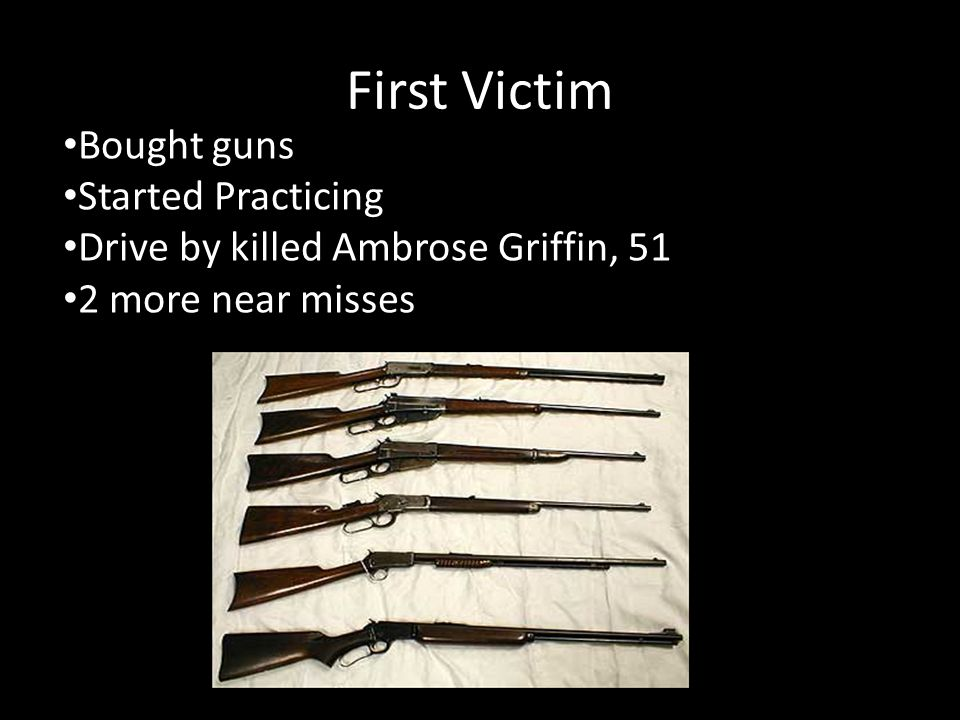 First Victim Bought guns Started Practicing