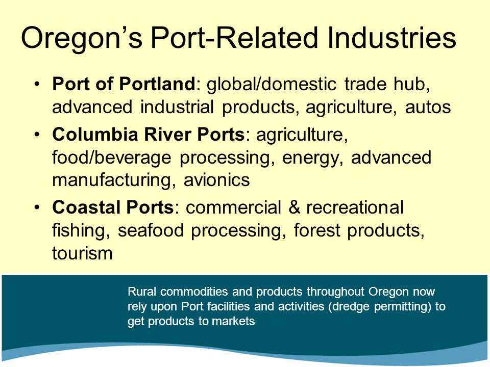 Oregon's Port-Related Industries