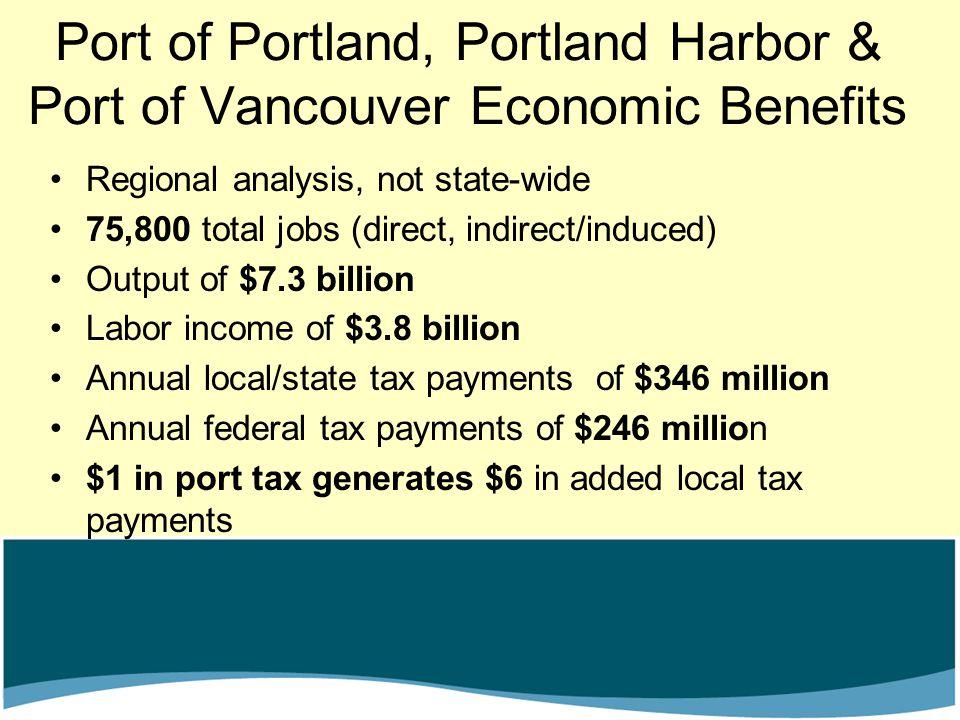 Port of Portland, Portland Harbor & Port of Vancouver Economic Benefits