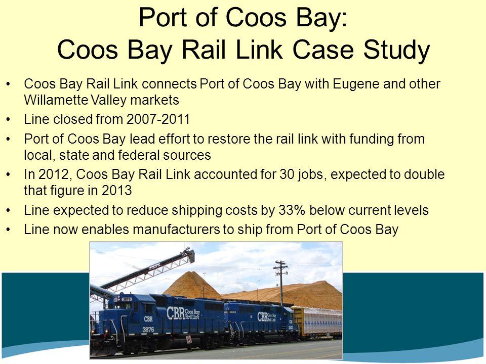 Port of Coos Bay: Coos Bay Rail Link Case Study
