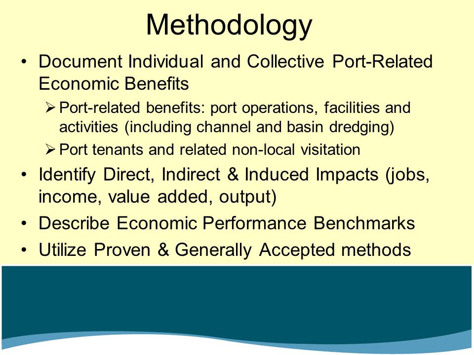 Methodology Document Individual and Collective Port-Related Economic Benefits.