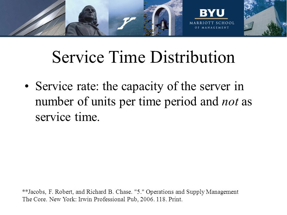 Service Time Distribution
