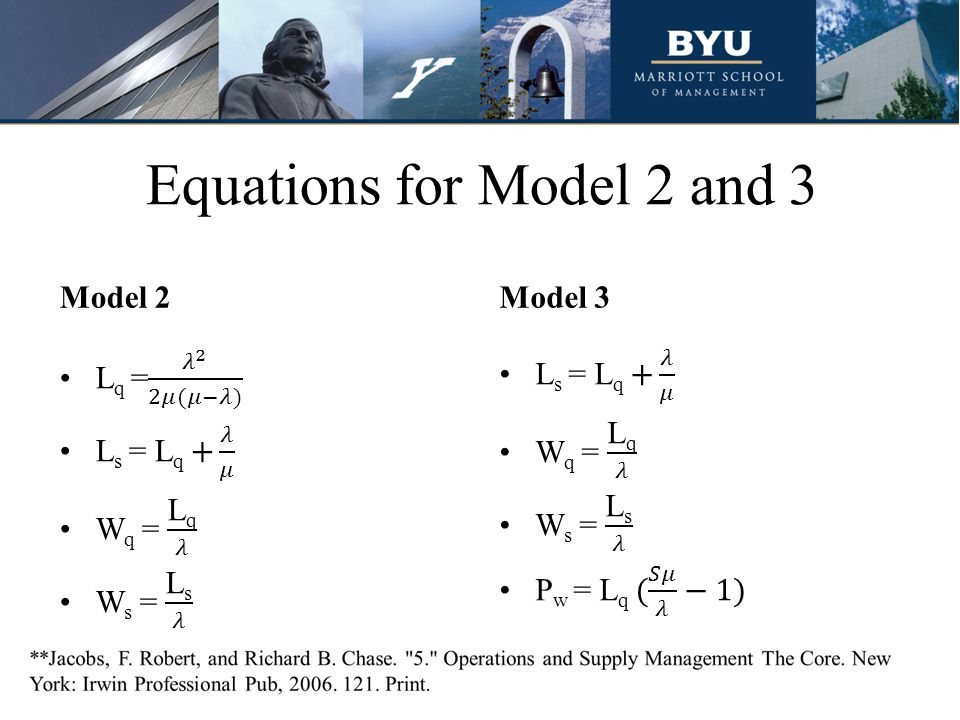 Equations for Model 2 and 3