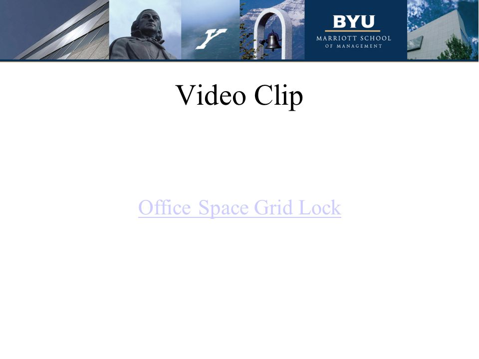 Video Clip Office Space Grid Lock