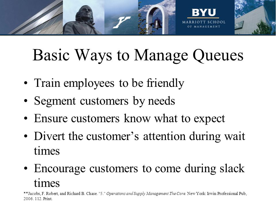 Basic Ways to Manage Queues