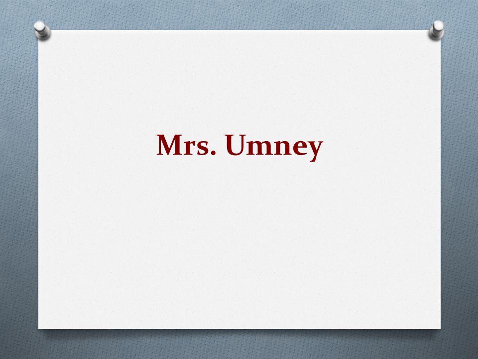 Mrs. Umney