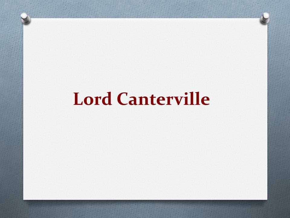 Lord Canterville