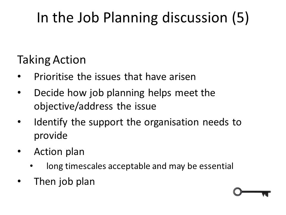 In the Job Planning discussion (5)