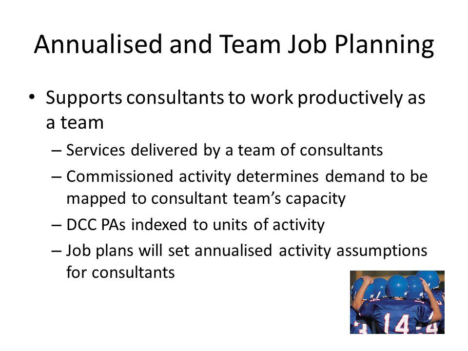 Annualised and Team Job Planning