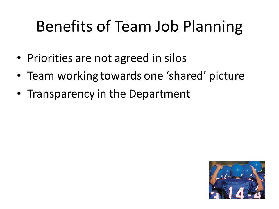 Benefits of Team Job Planning