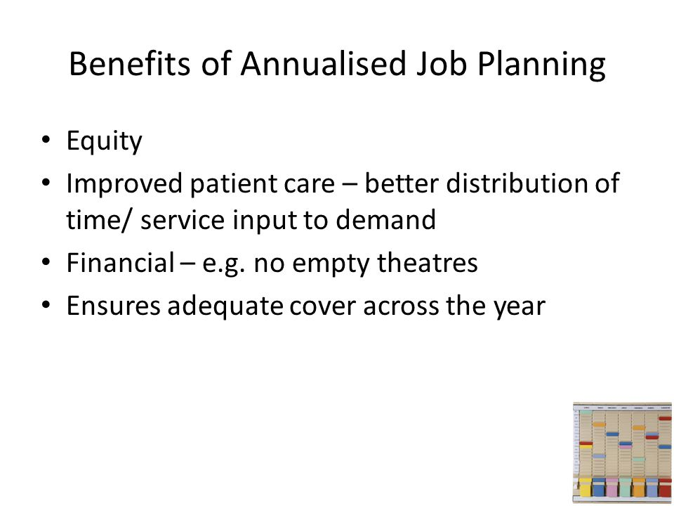Benefits of Annualised Job Planning