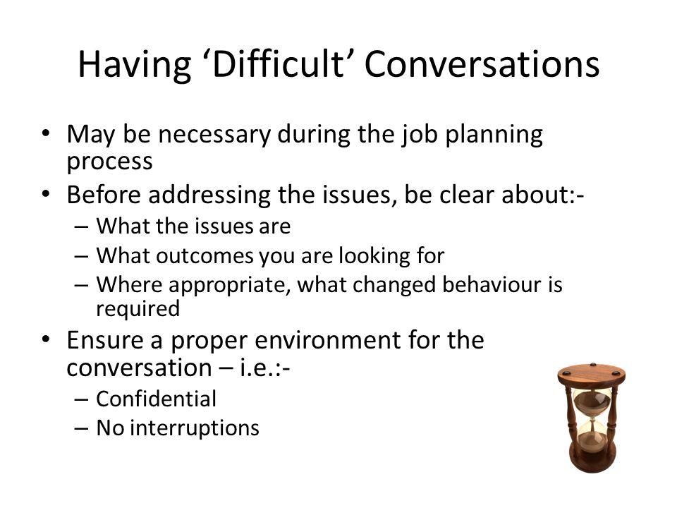 Having 'Difficult' Conversations