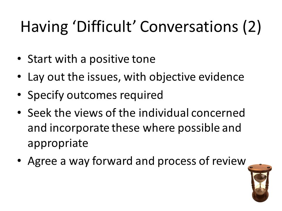 Having 'Difficult' Conversations (2)