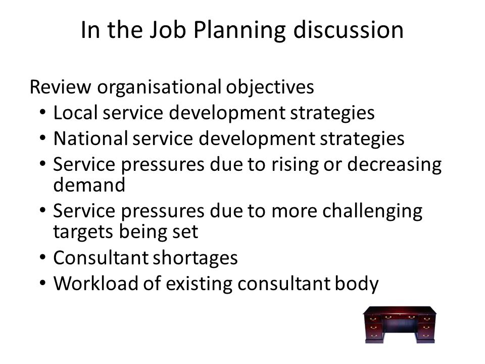 In the Job Planning discussion