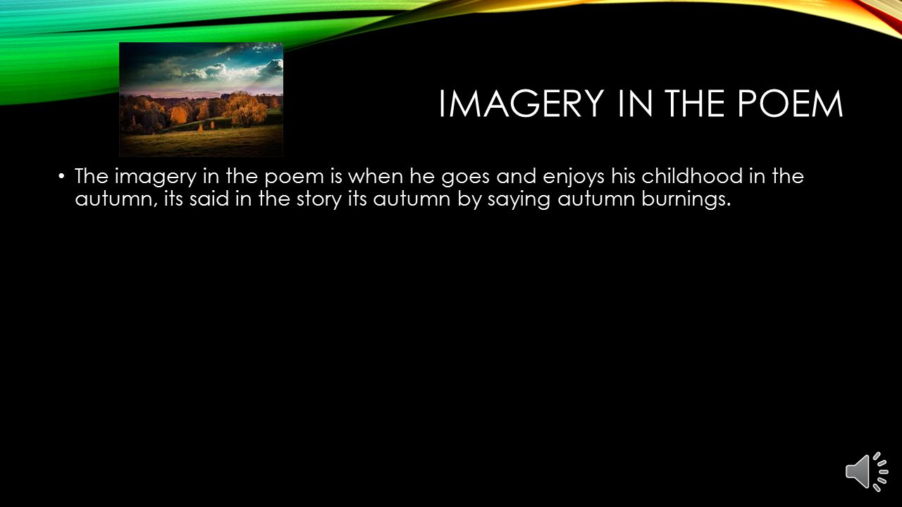 Imagery in the poem